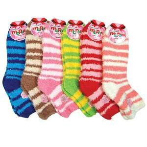 HS Winter Fuzzy Socks Stripe Line Design (size 9 11) 6