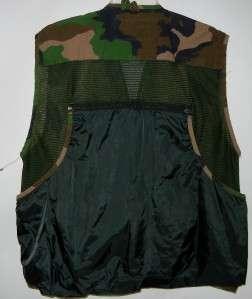 Camo Green Vest Mens XXL Cotton Nylon Jersey Shell Pockets More
