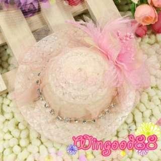 1pcs Women Ladies Girls Fashion Fascinator Mini Top Hat Hair Clamp Bow