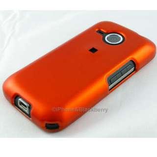 ORANGE Hard Rubber Case Cover HTC Droid Eris Accessory