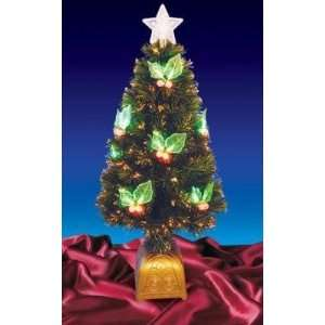 3 Pre Lit LED Color Changing Fiber Optic Christmas Tree