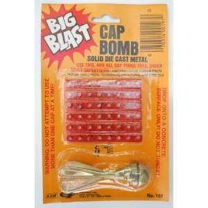 Solid Die Cast Metal Big Blast Cap Bomb: Sports & Outdoors