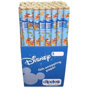 Pooh 22.5 Feet Gift Wrap Paper 1.5 Core Case Pack 40
