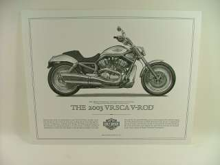 Harley Davidson Cornerstone Collection Print Set New NR