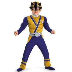 Lets Party By Disguise Power Rangers Gold Samurai Ranger Muscle Chest