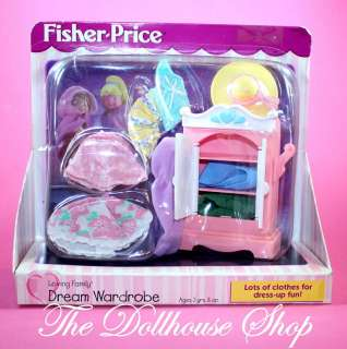 NEW DREAM WARDROBE FISHER PRICE LOVING FAMILY DOLLHOUSE