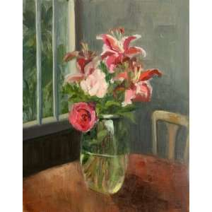 Birthday Flowers, Original Painting, Home Decor Artwork