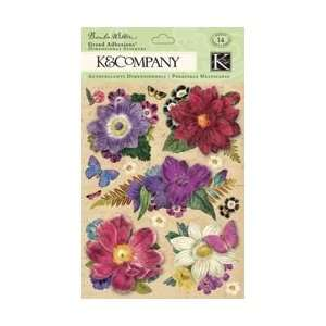 K & Company Flora & Fauna Grand Adhesions Flowers; 3 Items