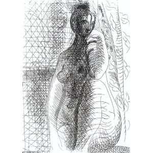 32 x 46 inches   Mujer desnuda con pierna plegada: Home & Kitchen