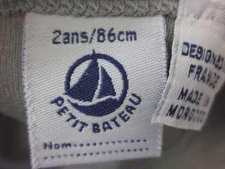 LOT 2 PETIT BATEAU Blue Gray Boys Shirts Sz 2M