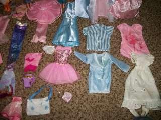 Huge lot of Barbie Doll Clothes Skipper Kelly Tommy Dresses Dolls NR