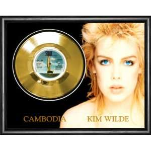 Kim Wilde Cambodia Framed Gold Record A3 Musical Instruments