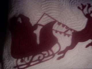 Barn~SLEIGH BELL CREWEL LUMBAR PILLOW~BEAUTIFUL SOLD OUT SANTA PILLOW