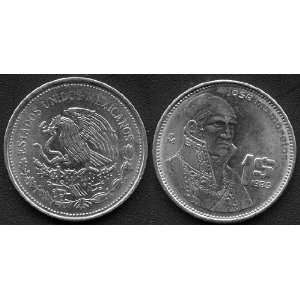 1985 Mexico One Peso Coin, Uncirculated Condition