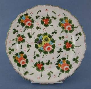 Castelli Dinner Plate Faience Pardi Flowers Italy CHIP