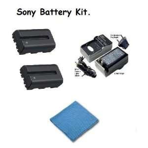 Sony Alpha DSLR A300 2x High Capacity Replacement Batteries (2 Units