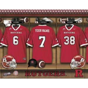 Personalized Rutgers Football Locker Room Print Sports