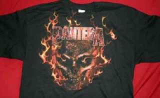 PANTERA FLAMING SKULL mens shirt new L,XL ships fast