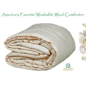 Natural Washable Down Alternative WOOL Comforter   FULL