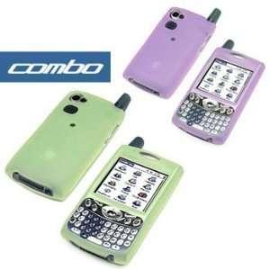 PDA Smartphone Protective Silicon Skin Cover Cases  ( Green + Purple