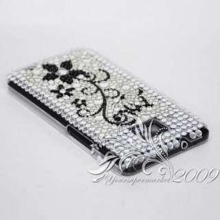 blackflower bling Case For Samsung Galaxy S II i9100 us