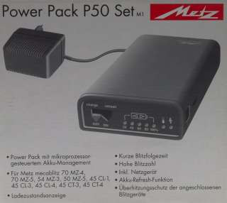 METZ POWER PACK P50 NEW BATTERY PORTABLE MINT BOXED NR