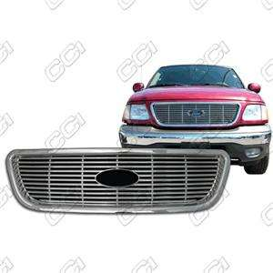 99 00 01 02 03 FORD F150 CHROME GRILLE INSERT OVERLAY