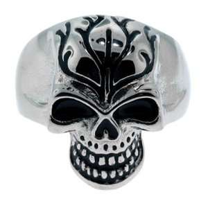 Size 13   Inox Jewelry Skull 316L Stainless Steel Ring