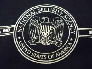 National Security Agency NSA long sleeve hooded t shirt size adult 2XL