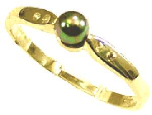 Sterling Silver Simulated Black Pearl Ring Size 6 10 S283 FREE