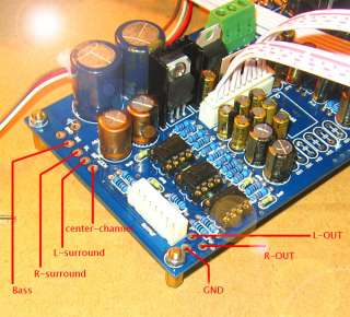 M62446 5.1CH Digital Preamp With full functional remote control
