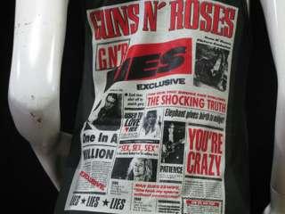 Vintage Guns N Rose Newspaper Mini Dress Tank Top Women Sz M