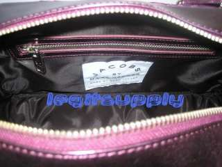 MARC JACOBS Purple Quilted Bowler Bag Speedy Tote Purse