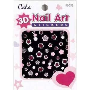 3D Nail Art Stickers x2 Packs Flowers #86283+ Aviva Eco Nail File