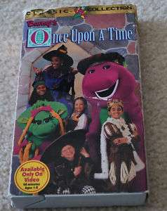 Barney Dinosaur Vintage 1996 Once Upon A Time VHS Movie 045986020147