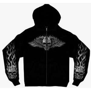 Hot Leathers Black Large Bad Scratch Zip Hoodie Automotive