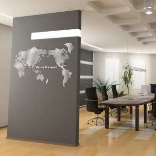Map of the World Adheive WALL DECOR REMOVABLE STICKER