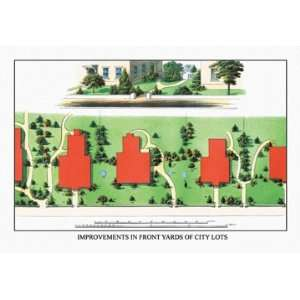 Improvements in Front Yards of City Lots 20x30 Poster