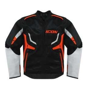 Icon Compound Hybrid Motorcycle Jacket Orange MD: Automotive