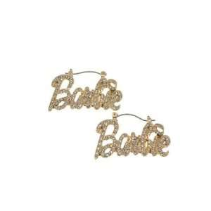 NICKI MINAJ BARBIE Pincatch Rhinestone Earring Gold