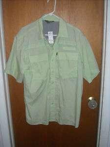 Mens S/S Nylon Fishing Shirt Gleam Lg