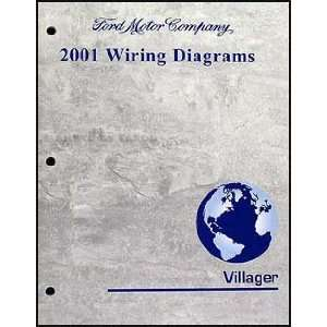 2001 Mercury Villager Wiring Diagram Manual Original Mercury Books