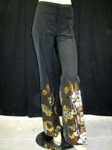 NWT JEAN PAUL GAULTIER Black Embroidered Pants 4 $1080
