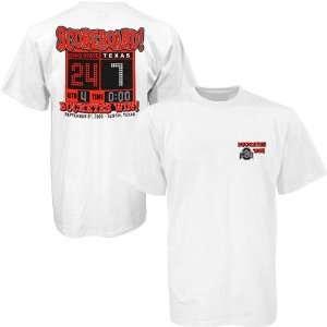 Ohio State over Texas White Score Short Sleeve T shirt