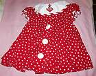 & CREAM SIZE 12 MONTH INFANT BABY GIRL RED STAR ANCHOR DRESS AWESOME