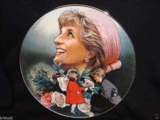 Franklin Mint   Englands Rose   Princess Diana   Plate