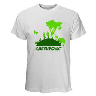 Shirt Greenpeace Logo Go Green Save Our Earth Environment Peace