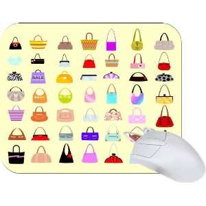 Rikki Knight Fashion Bags Shopping Design Mouse Pad