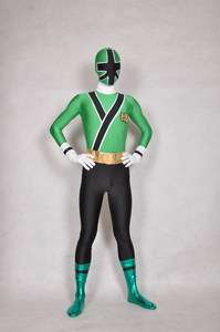 Green Power Ranger Samurai Costume c221
