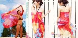 Bikini Chiffon Sexy Wrap Skirt Dress Sarong Beach Cover Up Scarf S35